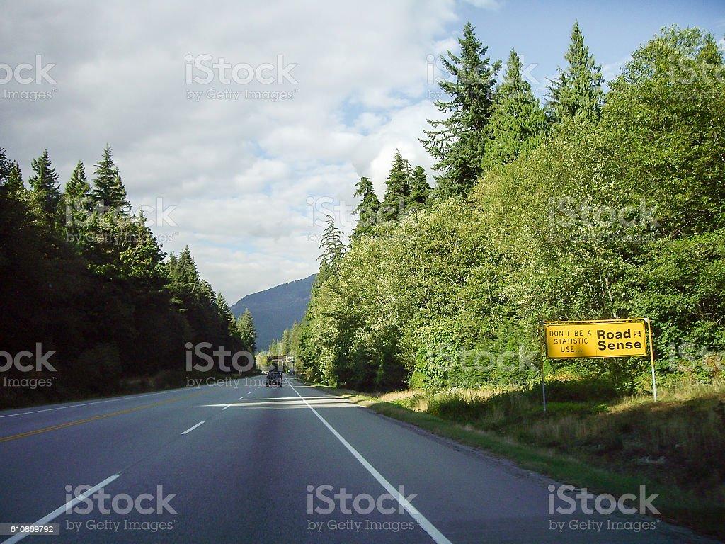 Canada Sea-to-Sky Highway, British Columbia,Canada stock photo