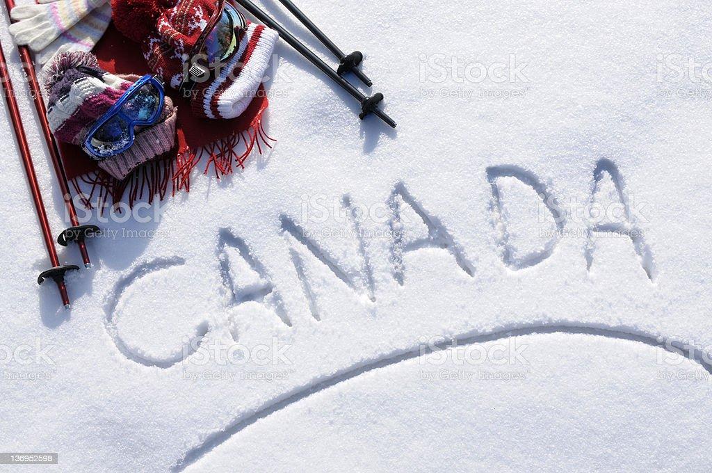 Canada ski background royalty-free stock photo