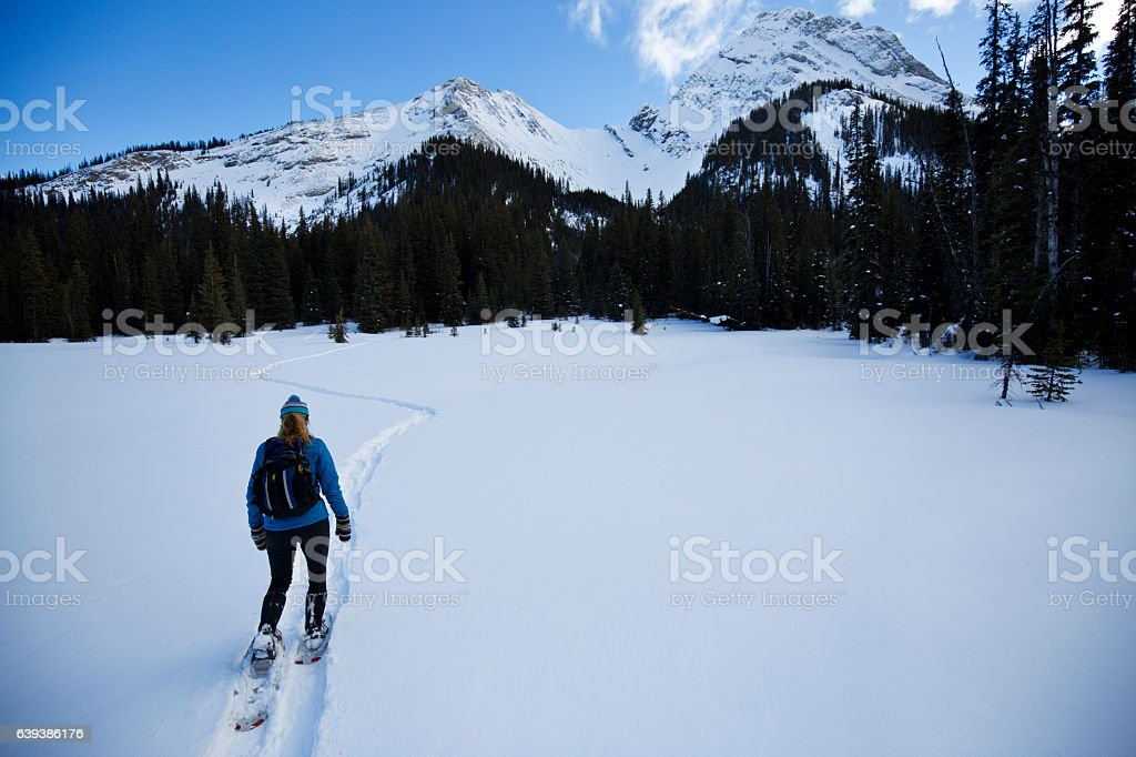 Canada Snow Shoe Girl stock photo