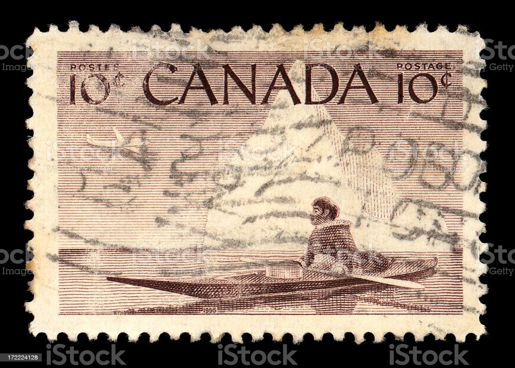 canada stamp royalty-free stock photo