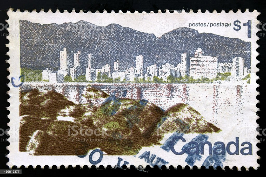 1$ Canada stamp royalty-free stock photo