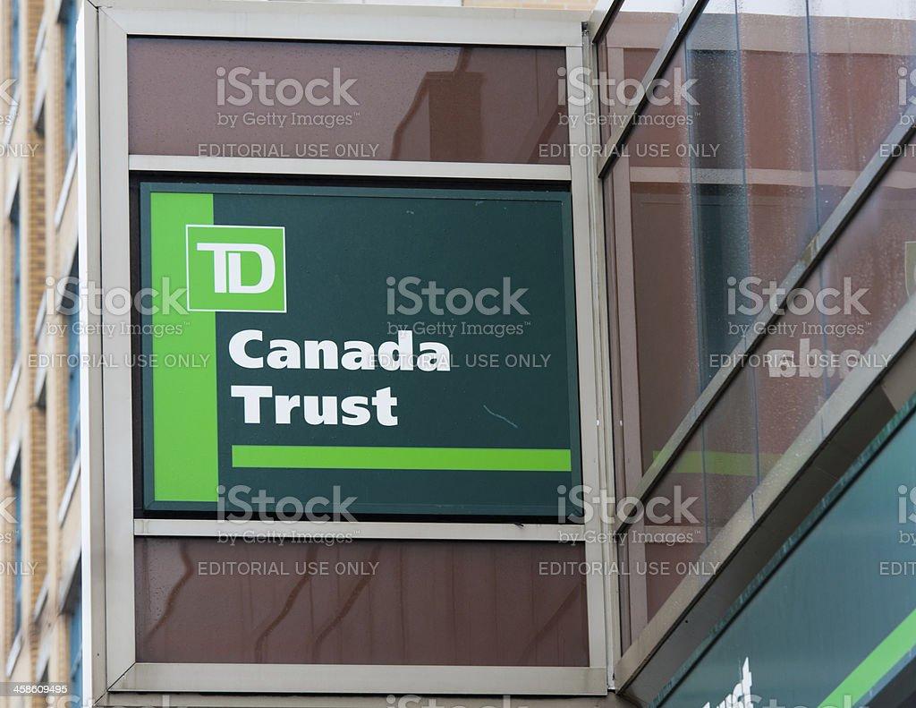 TD Canada Trust stock photo