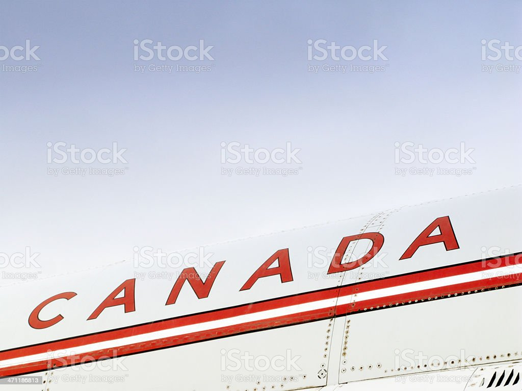 Canada written on the side of a historic aircraft. stock photo