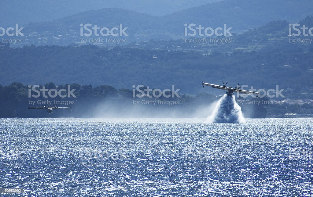 Canadair 4 royalty-free stock photo