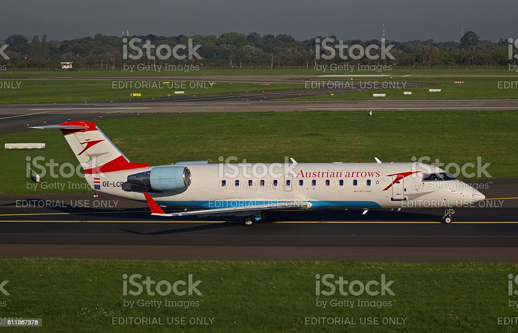 Canadair Regional Jet CRJ-200ER of Austrian Arrows stock photo