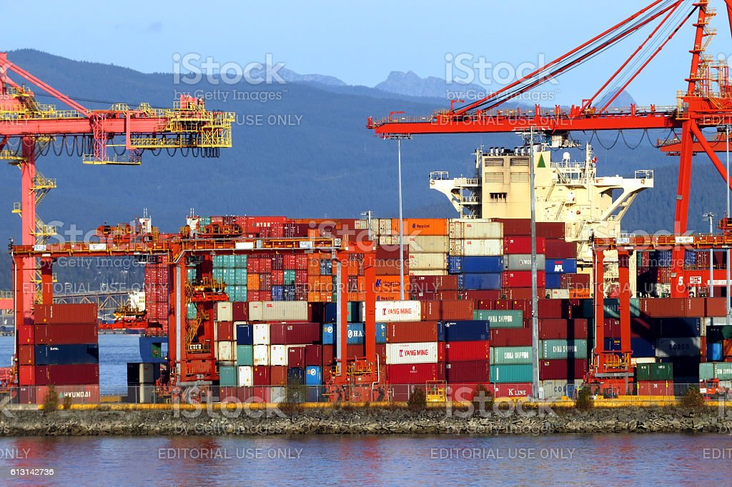 Canada's largest port Vancouver stock photo