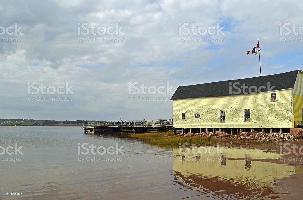 Canada's Prince Edward Island Fishing Village stock photo