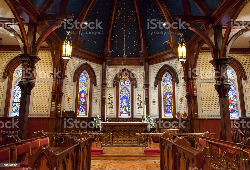 Canada's Wooden Gothic stock photo