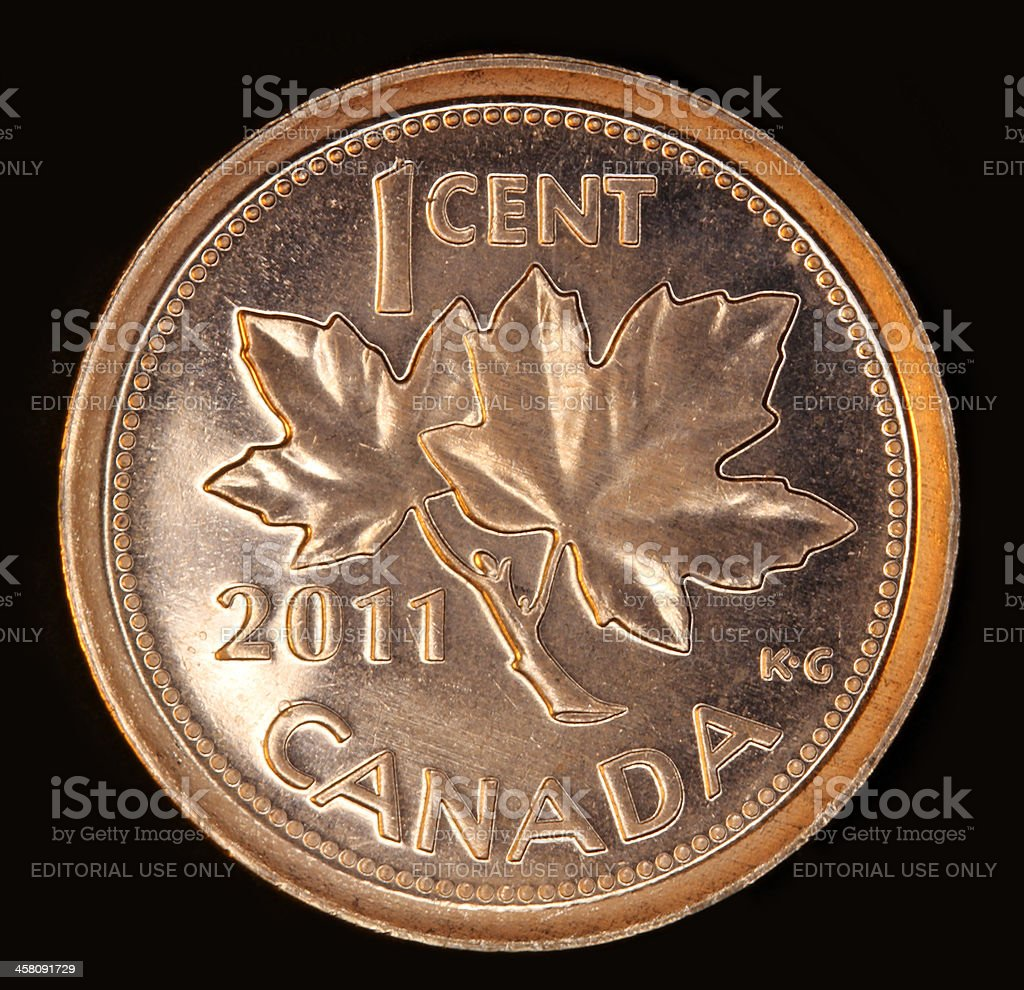 Canadian 2011 penny royalty-free stock photo