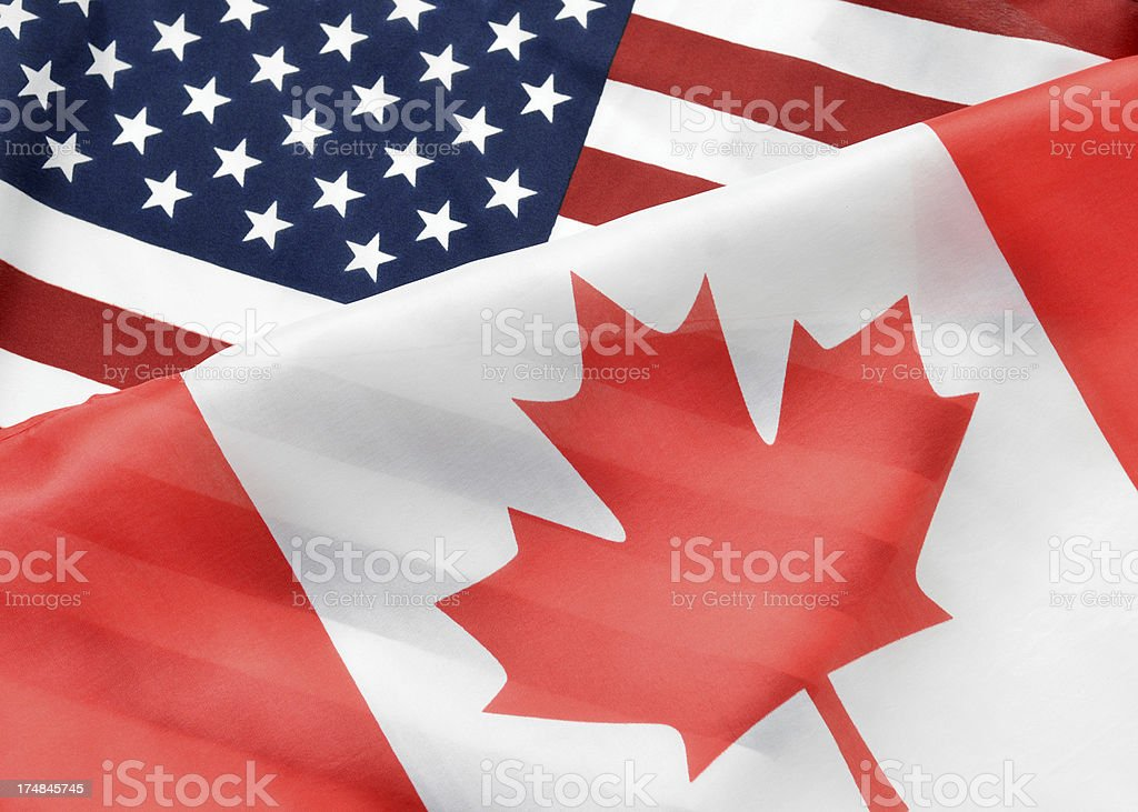Canadian American Relations stock photo