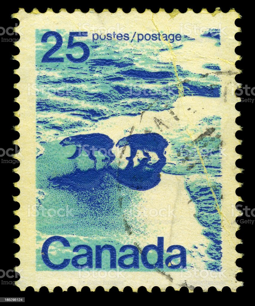 Canadian Arctic Stamp royalty-free stock photo