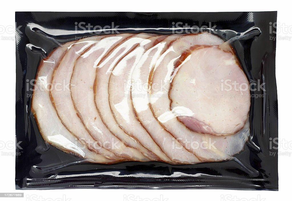 Canadian bacon royalty-free stock photo
