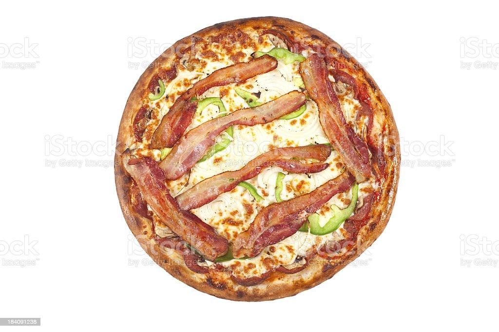 Canadian Bacon Pizza stock photo