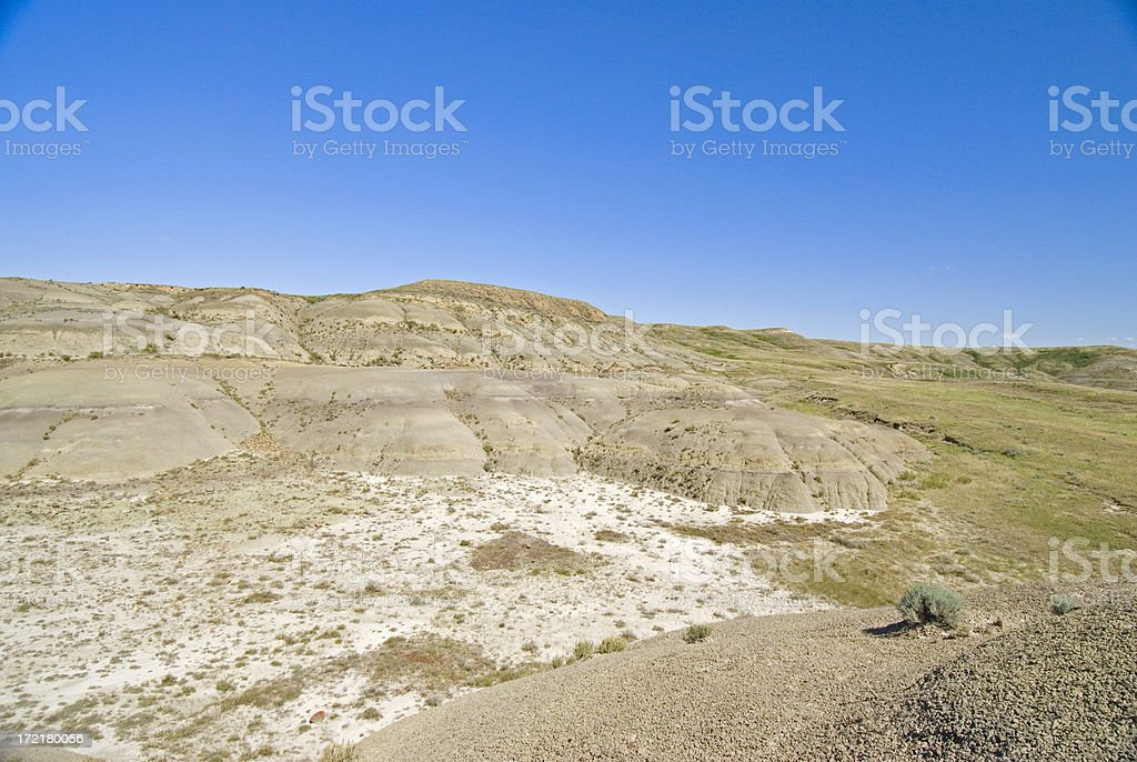 Canadian Badlands stock photo
