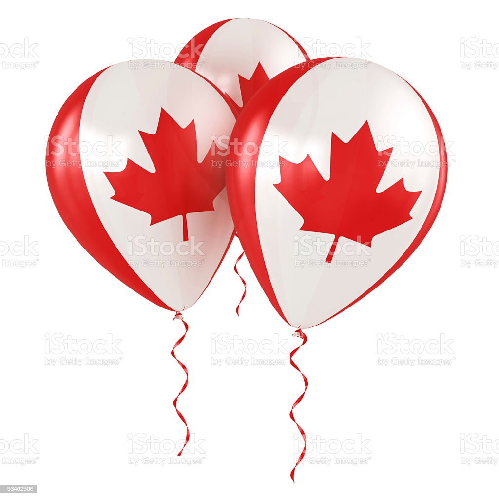 Canadian balloons royalty-free stock photo