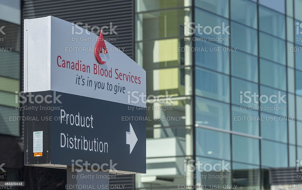 Canadian Blood Services royalty-free stock photo