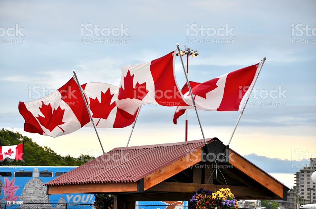 Canadian Boarder stock photo