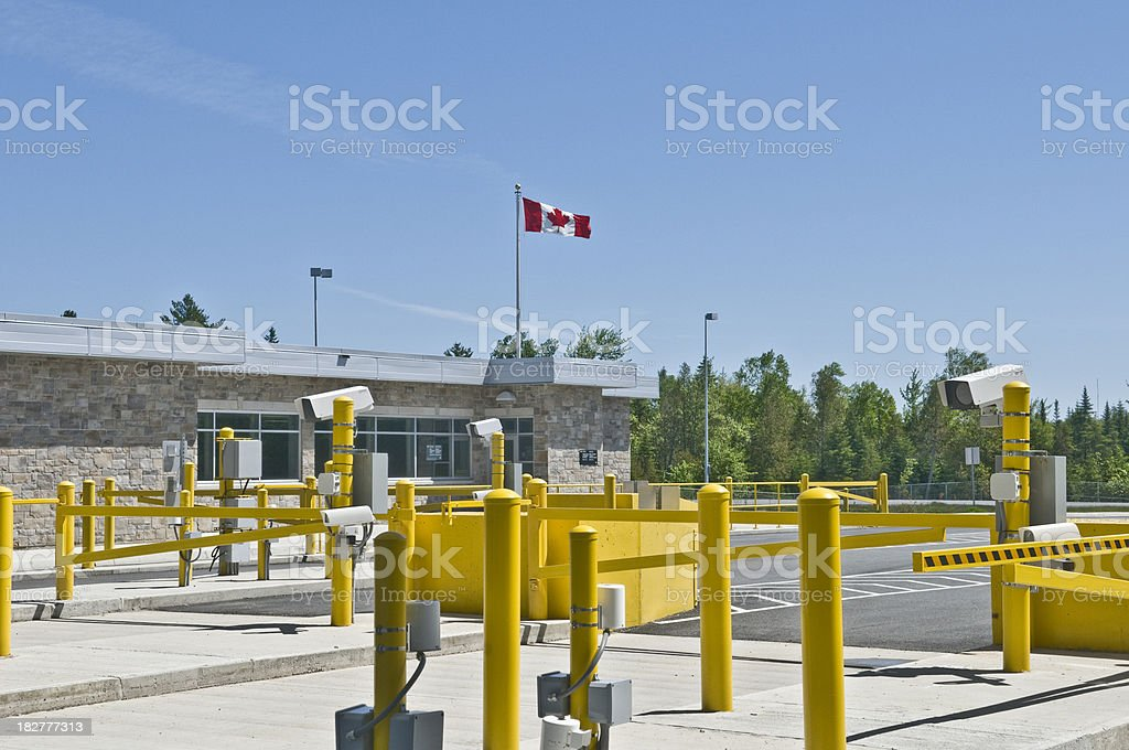 Canadian Border Crossing stock photo