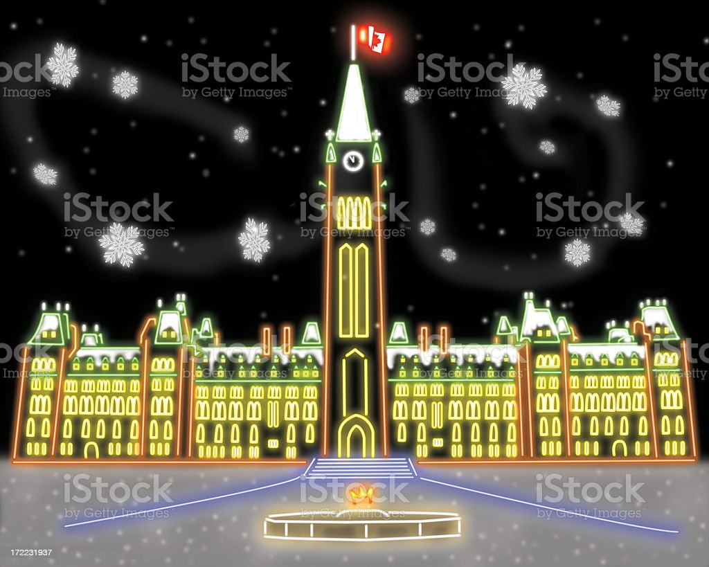 Canadian capital in the snow royalty-free stock photo