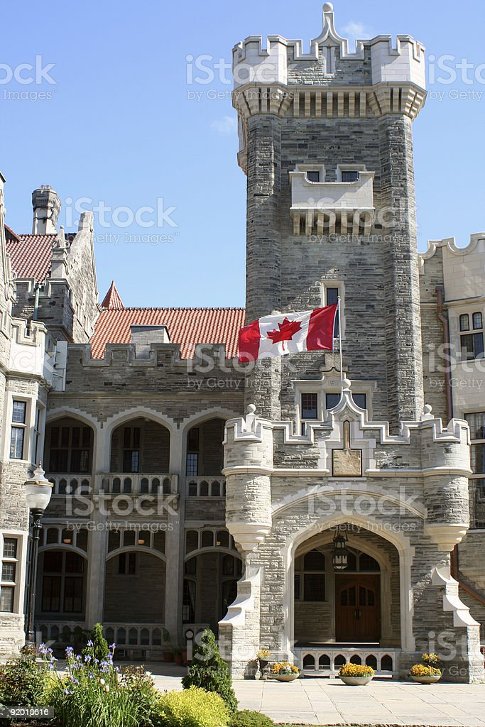 canadian castle royalty-free stock photo