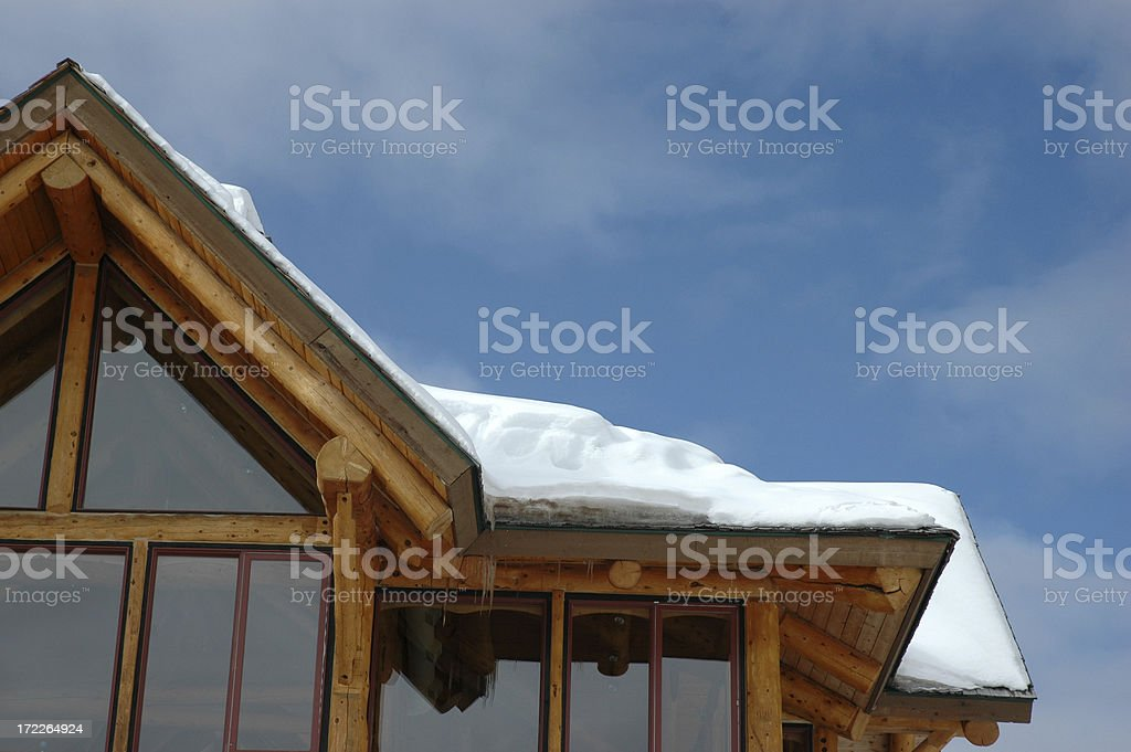 canadian chalet royalty-free stock photo