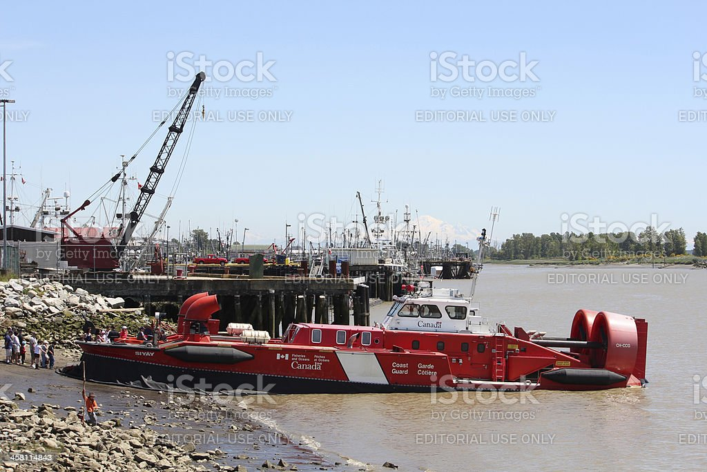 Canadian Coast Guard Hovercraft Tours royalty-free stock photo