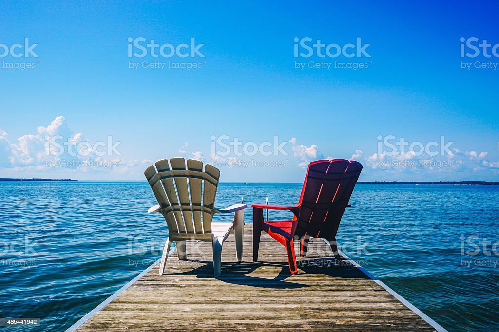 Canadian Cottage Life stock photo