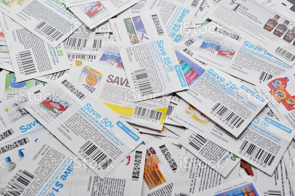 Canadian coupons background. stock photo