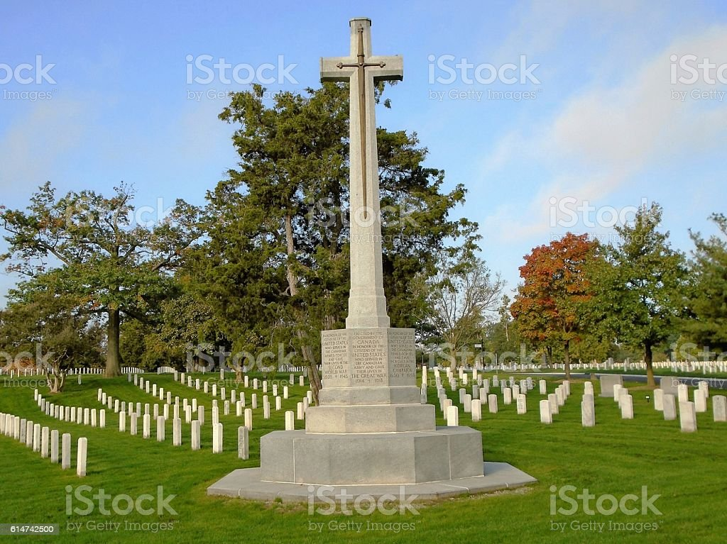 Canadian Cross of Sacrifice stock photo