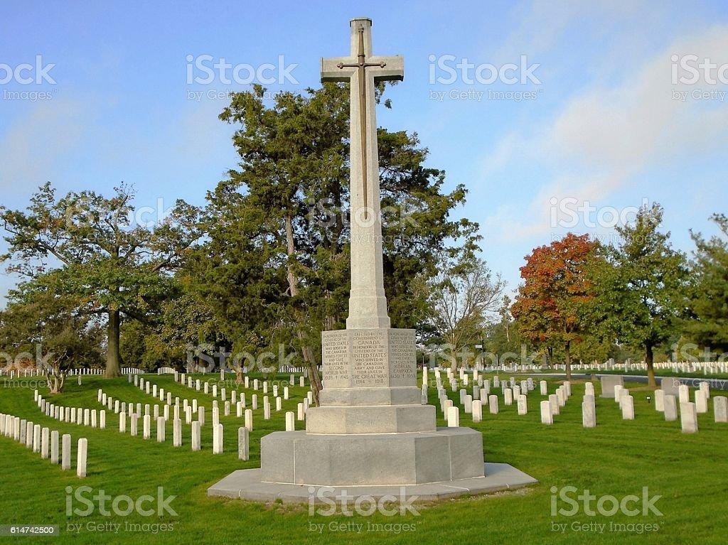 Canadian Cross of Sacrifice stock photo