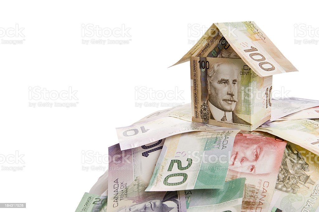 Canadian dollar house royalty-free stock photo