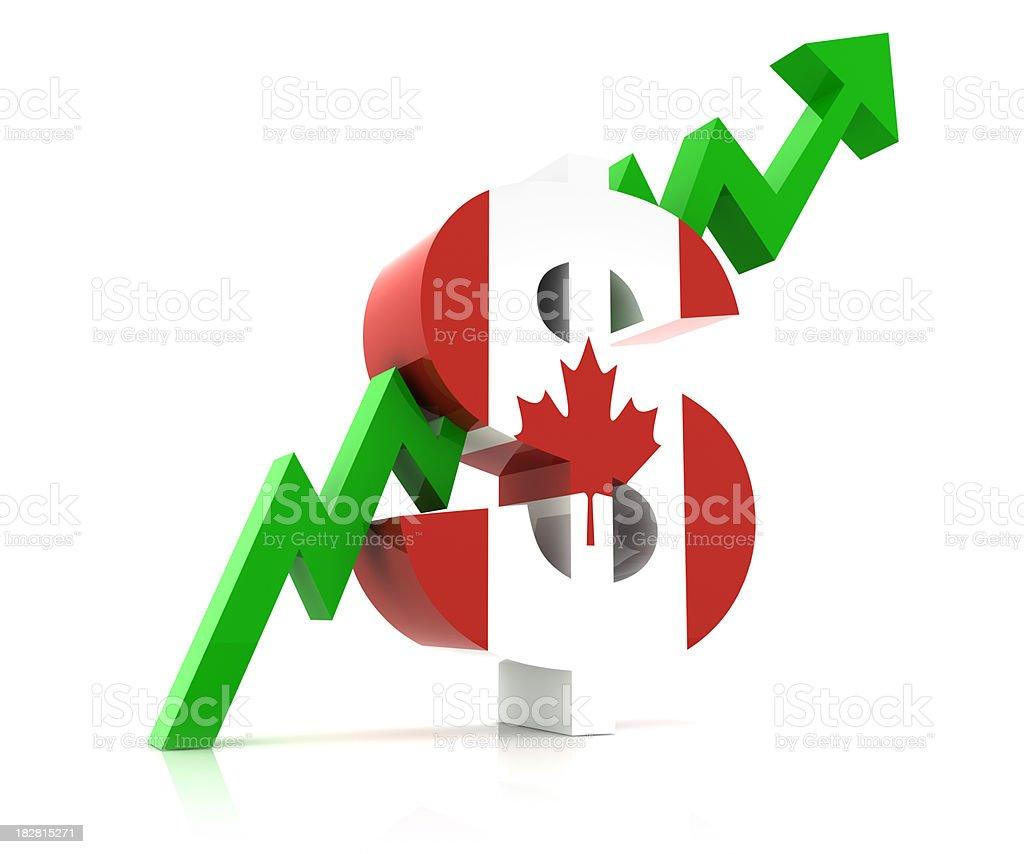 Canadian Dollar Market royalty-free stock photo