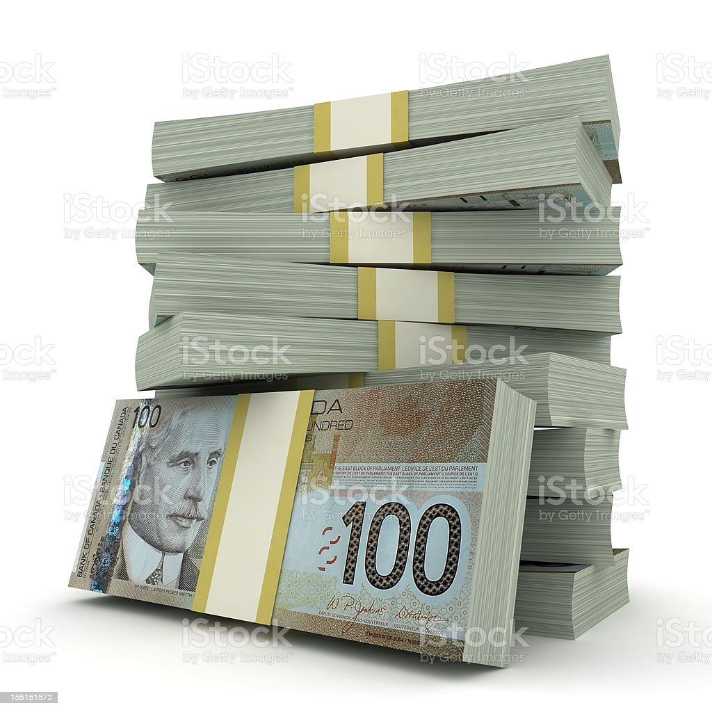 Canadian Dollars royalty-free stock photo