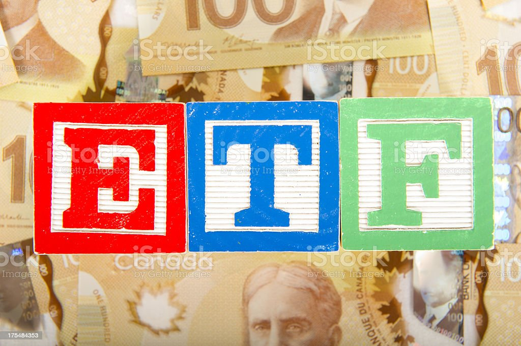 Canadian ETF's royalty-free stock photo
