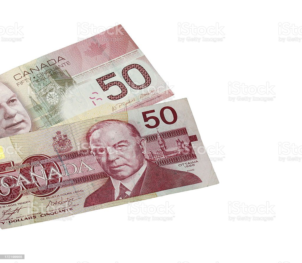 Canadian Fifties Isolated royalty-free stock photo