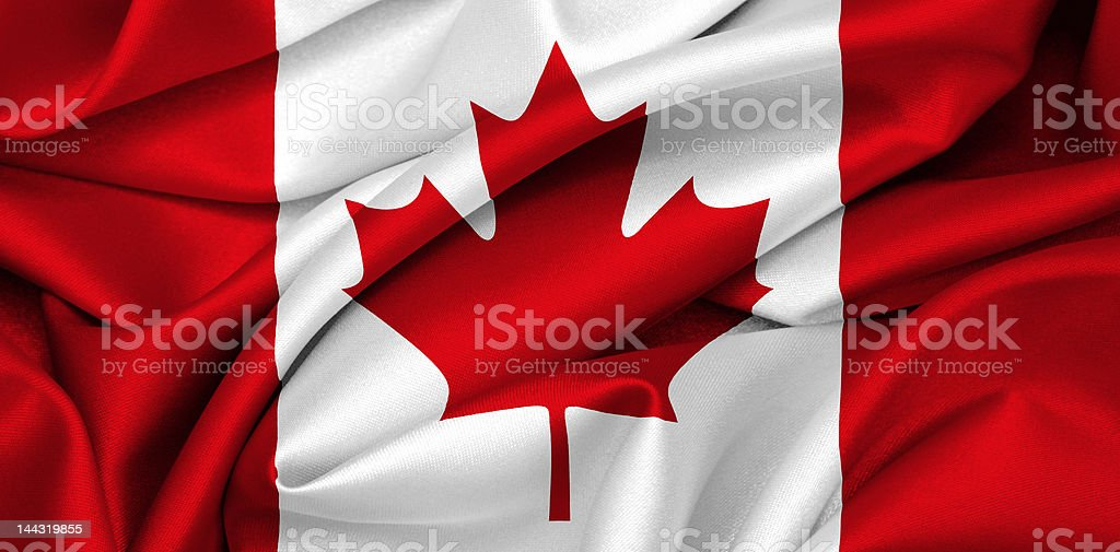 Canadian flag - Canada royalty-free stock vector art