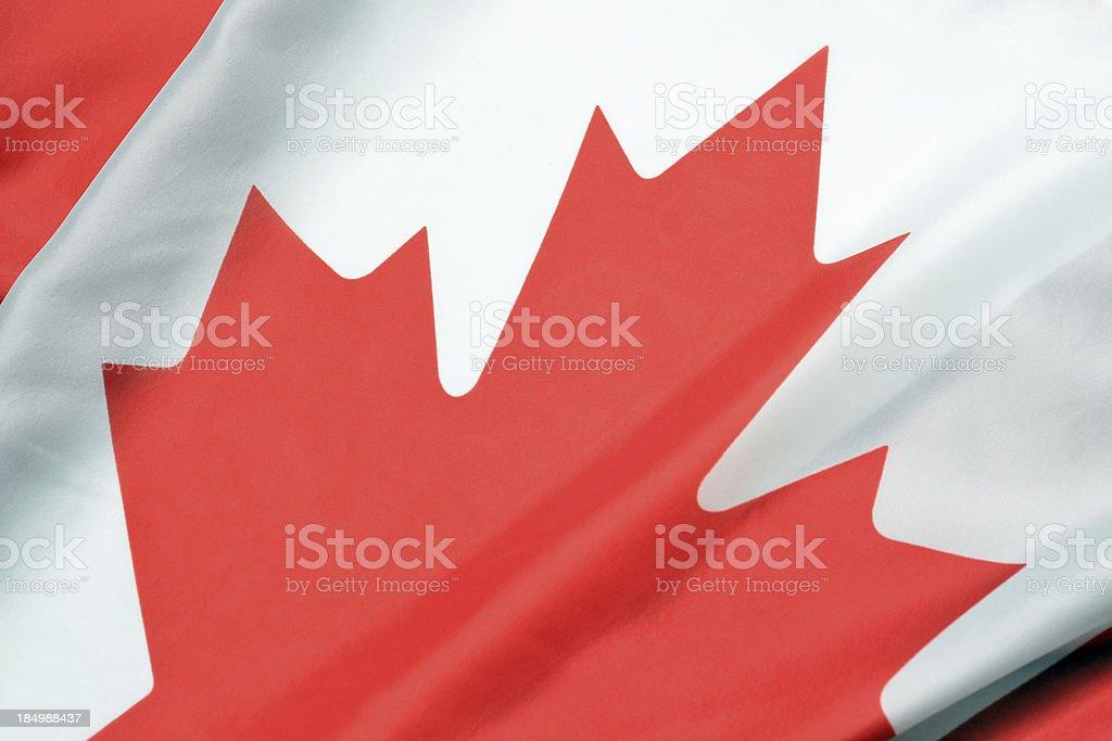 Canadian Flag Close Up stock photo