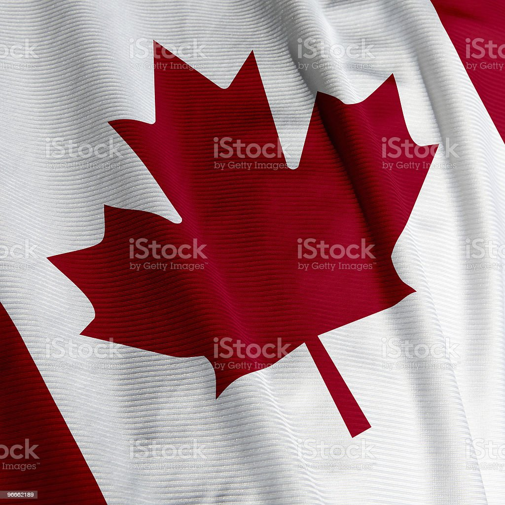 Canadian Flag Closeup stock photo