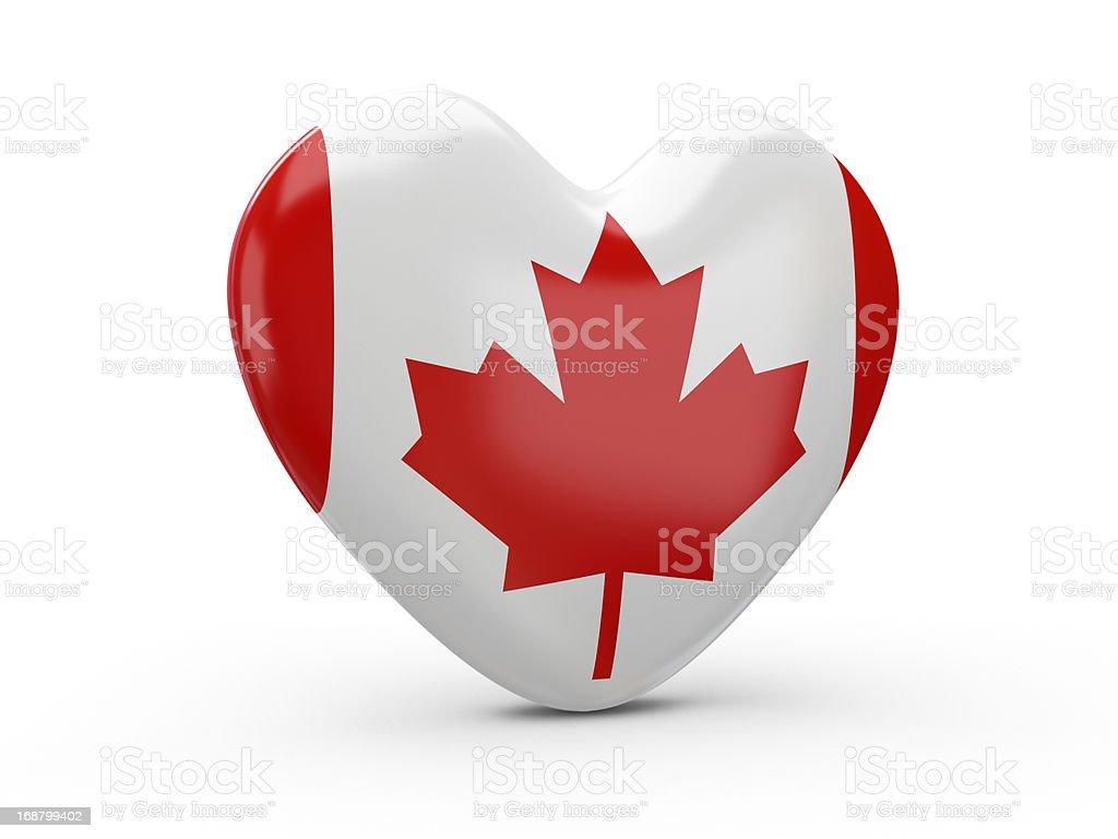Canadian Flag Heart stock photo