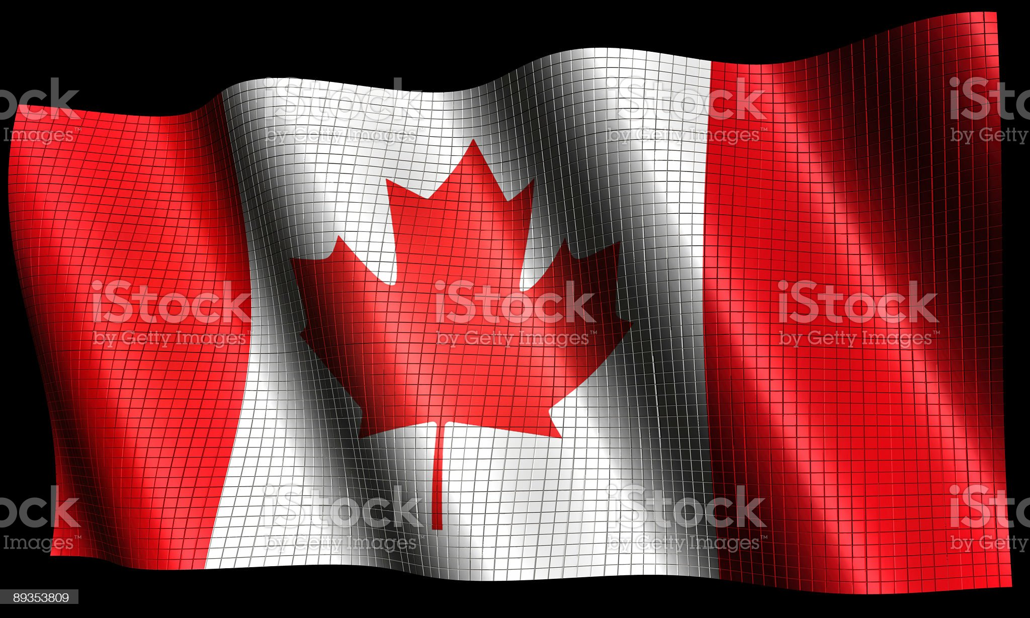Canadian Flag made of Cubes (Clip Path royalty-free stock photo