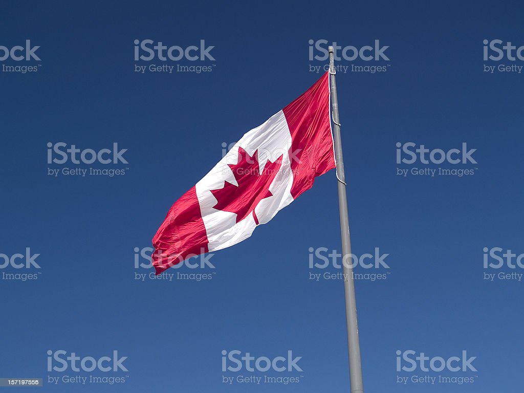 Canadian Flag (Landscape) royalty-free stock photo