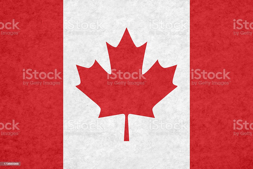 Canadian flag royalty-free stock photo