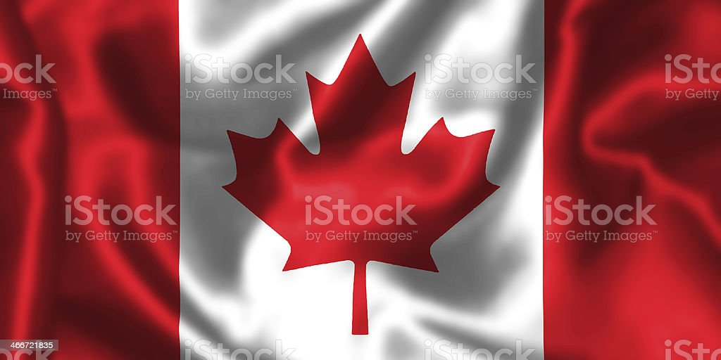 Canadian Flag. stock photo
