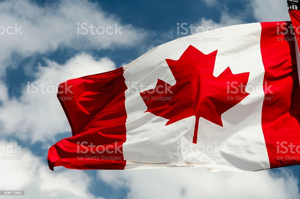 Canadian Flag stock photo