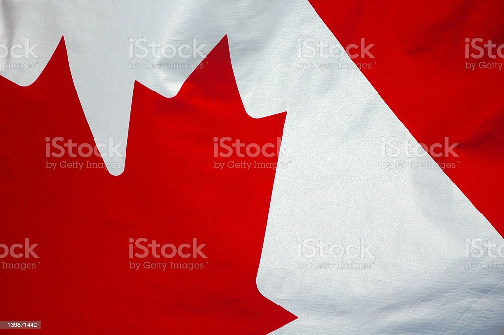 Canadian Flag -  Up Close 5 royalty-free stock photo
