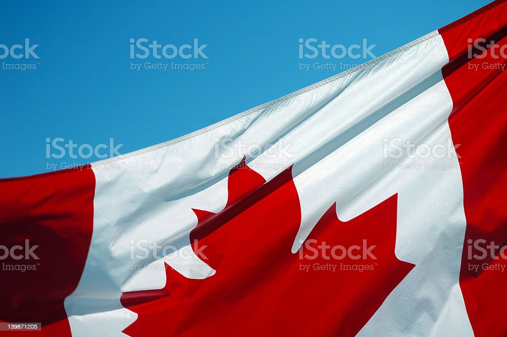 Canadian Flag -  Up Close 7 royalty-free stock photo