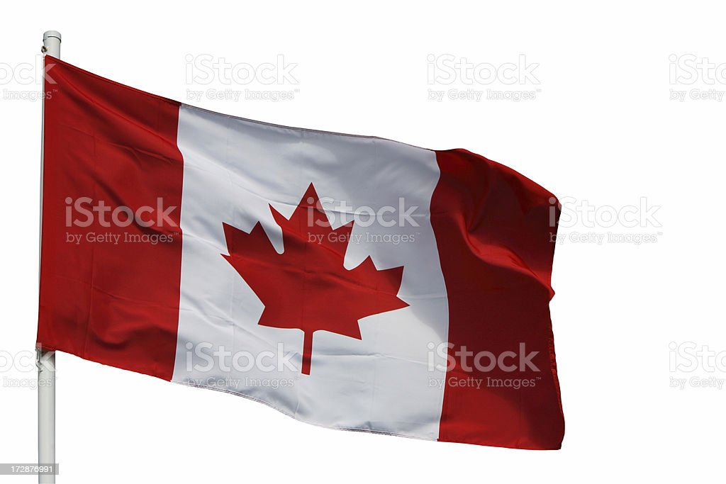 canadian flag with path royalty-free stock photo