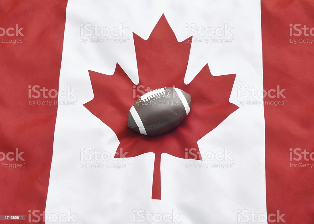 Canadian Football stock photo