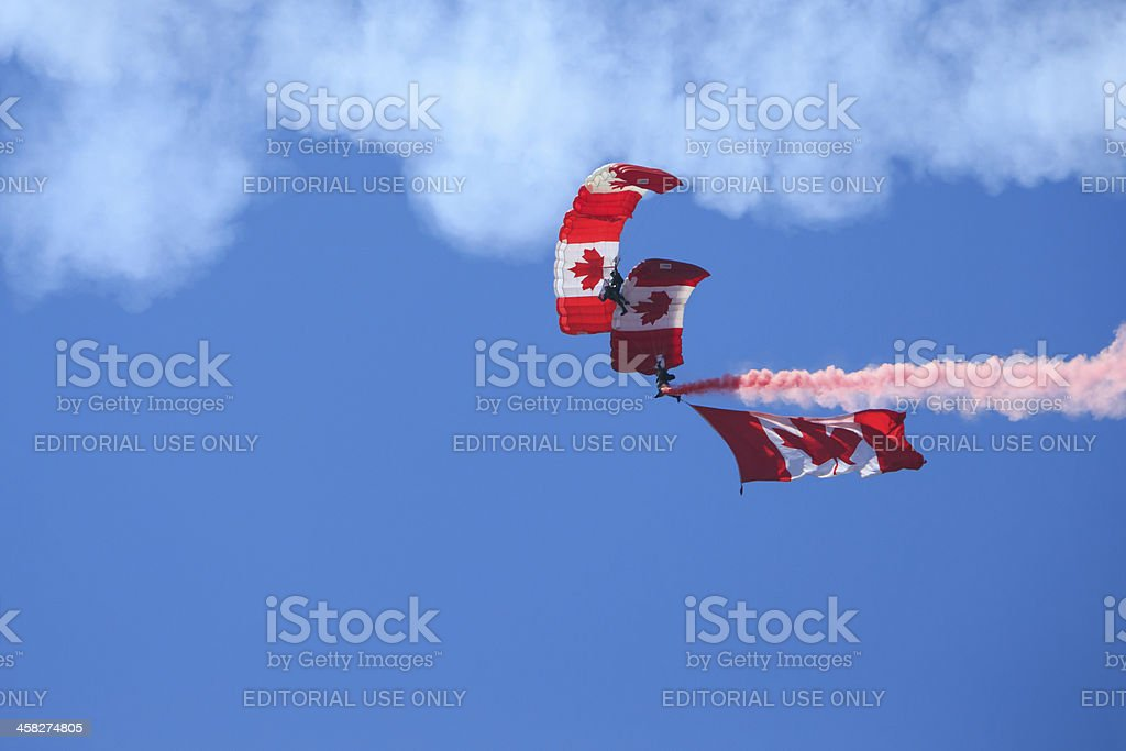 Canadian Forces Skyhawks Parachute Team royalty-free stock photo