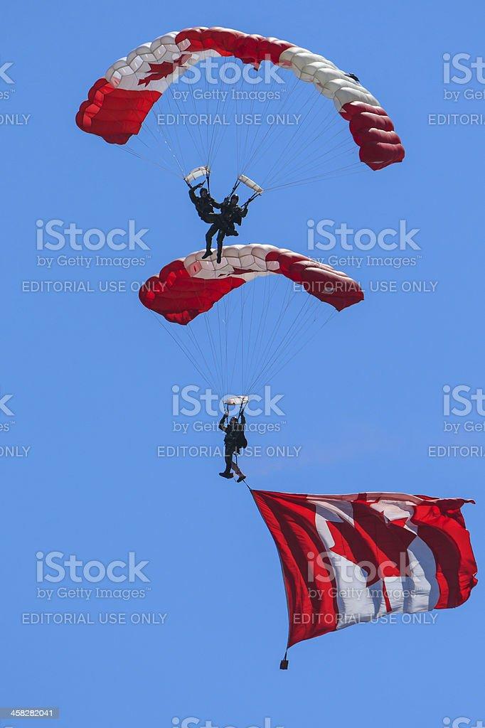 Canadian Forces Skyhawks Parachute Team stock photo